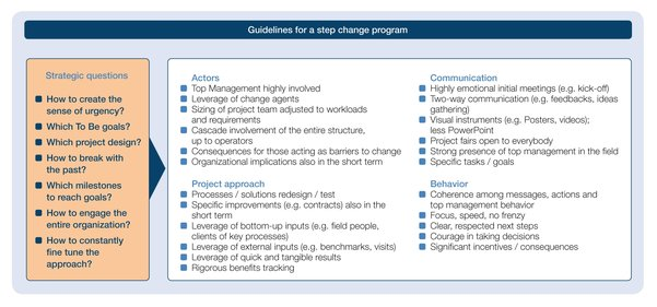 Guidlines for a step change program