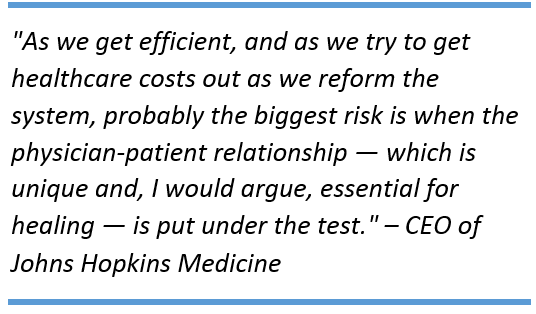 Quote_by_CEO_of_Johns_Hopkins_Medicine